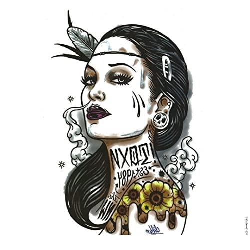 Tatuaggio Temporaneo - Tatuaggio donna indiana