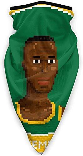 Lawenp Shawn Kemp Portrait Pixel Face Sciarpa Bandane per polvere, all'aperto, festival, sport