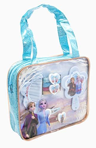 Disney Frozen 2 - 19384 - set di accessori per capelli nella borsetta glitter in PVC, multicolore