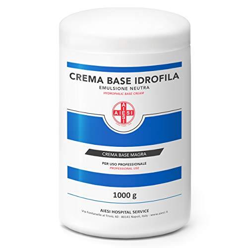 AIESI® Crema Base Idrofila emulsione neutra magra pura barattolo da 1 Kg ideale per uso Farmaceutico Cosmetico e Dermatologico # Made in Italy