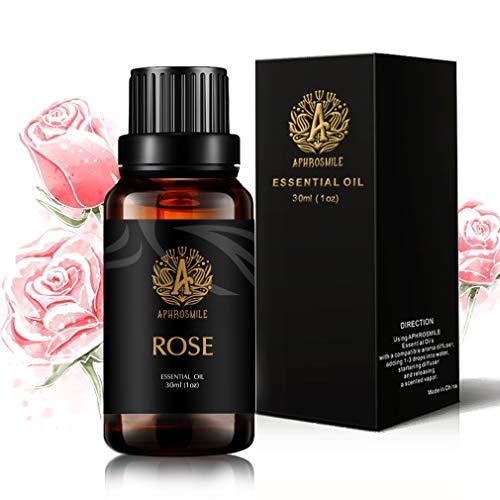 Aromaterapia olio essenziale rosa, 1oz - 30ml Aromaterapia Olio essenziale della Rosa Profumo per diffusore, umidificatore, Terapeutico Grade Rose olio essenziale di fragranza per massaggi, casa