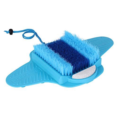 YF, spazzola per la pulizia dei piedi per doccia e pavimento, con setole di pomice, esfoliante per la pelle morta e il piede con ventose antiscivolo