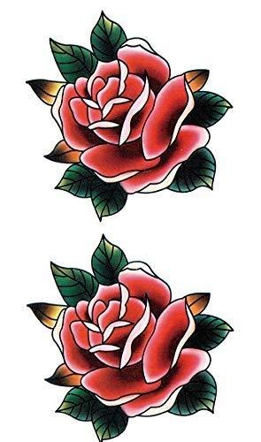 Old School Tattoo, tatuaggio tradizionale con rose e fiori, finto tatuaggio SKM201