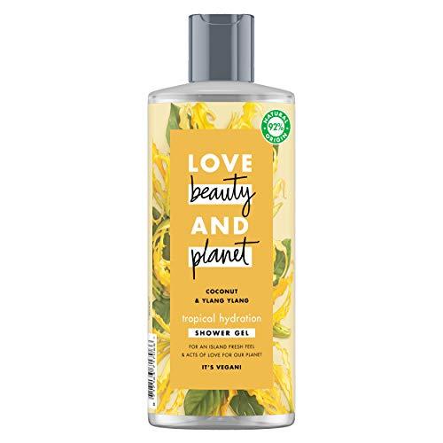 Love Beauty & Planet Bagnodoccia Gel Rinfrescante Tropical Hydration, Coconut e Ylang Ylang - 500 ml