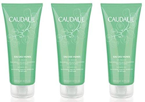 Caudalie, Eau des Vignes, gel doccia, confezione da 3 (etichetta in lingua italiana non garantita)