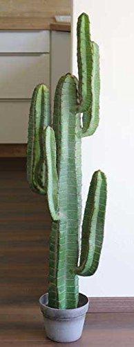 artplants.de Cactus cereo Artificiale Olivero in Vaso, Verde, 115cm - Pianta grassa Finta/Cactus Finto in Vaso