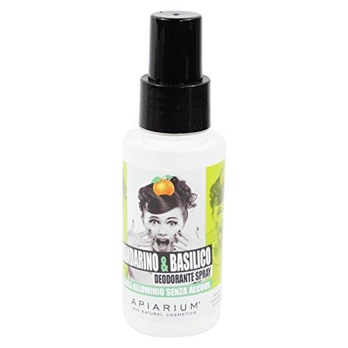 APIARIUM - Deodorante Mandarino e Basilico - Senza alcol - Senza alluminio - Con un profumo fresco e avvolgente - Agisce direttamente sugli odori corporei - 50 ml