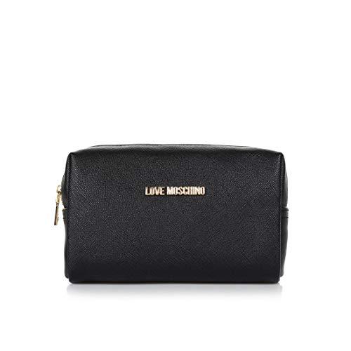 Love Moschino Beauty Case, Piccola Borsa Donna, Nero, Taglia Unica