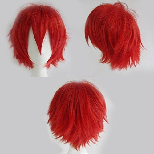 Parrucca di capelli lisci da cosplay, anime, unisex, capelli naturali