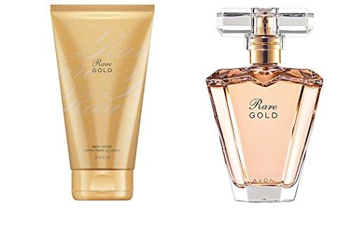 Avon, set di Eau de parfum e lozione per il corpo Rare Gold [etichette in lingua italiana non garantite]