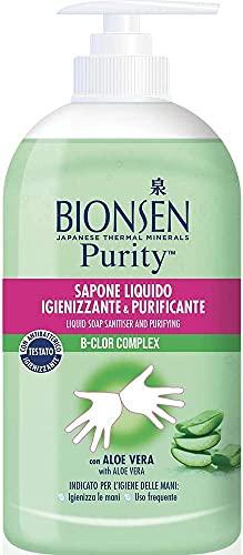 Bionsen Sapone Liquido Mani Igienizzante Con Antibatterico All'Aloe Vera, Efficacia Istantanea Comprovata Dall'Eliminazione Dei Batteri Dell'Epidermide In Pochi Secondi, Formato: 500 ml