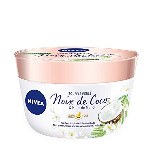 Nivea - Crema all'olio soffiato perlato con vasetto di noce di cocco/olio di Monoï 200 ml