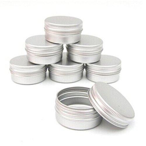 Vollter 10pcs Balsamo Nail Cosmetic Cream Art Make Up Pot Lip vaso di latta contenitore della cassa
