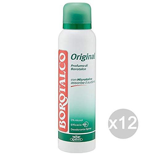 Set 12 BOROTALCO Deodorante Spray Original Ml 125 Cura E Igiene Del Corpo