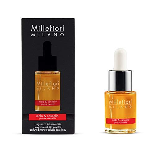 Millefiori Milano fragranza idrosolubile | 15ml | fragranza Mela & Cannella | da utilizzare con diffusore di fragranza per ambiente ad ultrasuoni Millefiori Hydro