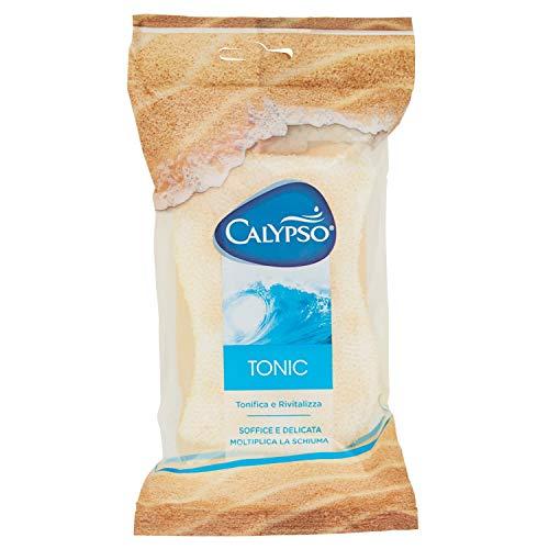Spontex Calypso Tonic, Spugna a Doppia Azione, Tonifica e Rivatilizza, Colori Assortiti Fluo