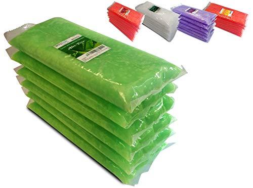 Boston Tech BE106-A Pura cera di paraffina 3 Kg. 6 blocchi da 500g C/u. Ideale per qualsiasi bagno di paraffina. Uso terapeutico ed estetico. Aroma Di Aloe Vera