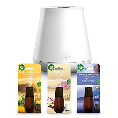 Air Wick - Diffusore di oli essenziali Mist con 3 ricariche Thym / Lavender / Vanilla