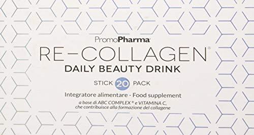 RE-COLLAGEN Daily Beauty Drink - Integratore alimentare con l'esclusivo complesso di aminoacidi ABC COMPLEX, Vitamina C e ACIDO IALURONICO - Made in Italy