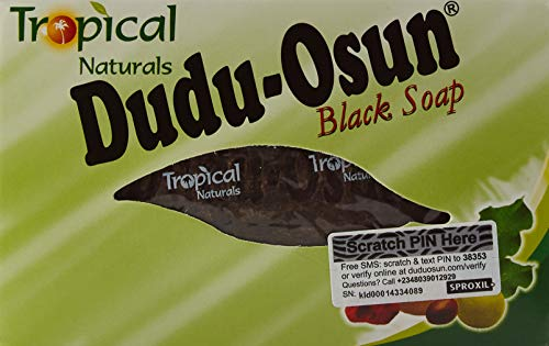 Dudu Osun, sapone nero africano, naturale, puro, tropicale 150g–Confezione da 6