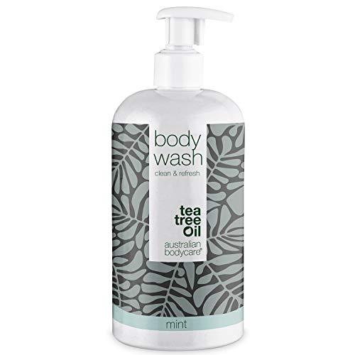 Australian Bodycare Body Wash 500ml | Tea tree oil e menta | Gel doccia uomo all'olio di melaleuca I Sapone delicato donna per pelle secca e impura, brufoli, prurito, cattivi odori, sudore