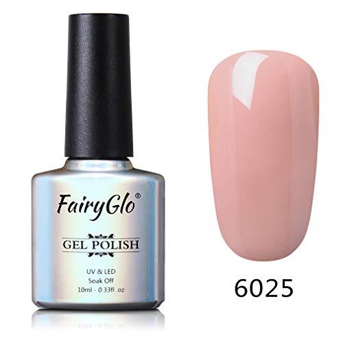 Smalto Semipermanente 3 in 1 per Unghie in Gel UV LED Smalti Semipermanenti One-Step Gel Colore Ricostruzione per Unghie Soak off 1pz 10ml di Fairyglo - un passo gel - 6025