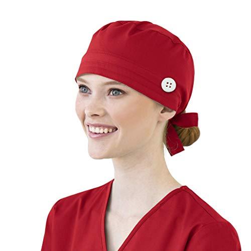 XIAOQING Cappello Turbante Cappello Bouffant Stampato Copricapo Bouffant Regolabile Cappello Unisex con Fascia Sudore per Lavoratori di Bellezza Forniture Cura Personale (G)