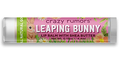 Crazy Rumors, Lip Balm with Shea Butter, Leaping Bunny, Plum Apricot, 0.15 oz (4.4 ml)