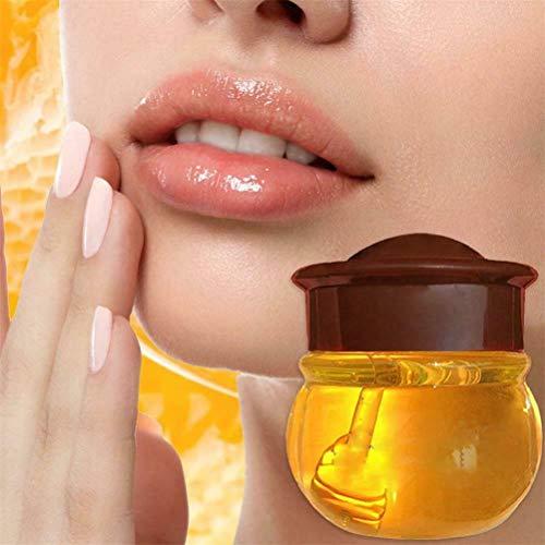 Balsamo per le labbra al miele Burts Bees, Maschera per il sonno delle labbra con peptide di collagene, Maschera per le labbra al miele idratante alla propoli Balsamo (1 PZ)