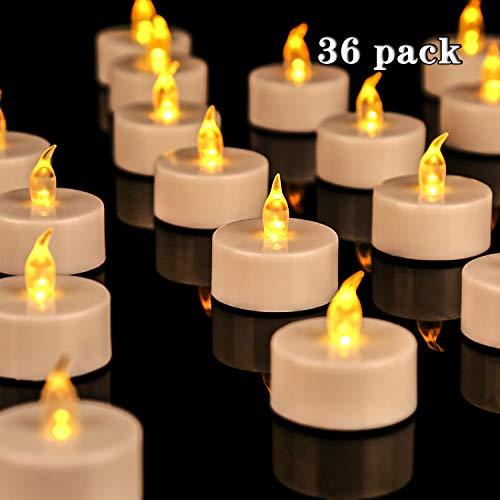 Candele a LED, portò candele flickering flameless candele,100 Ore Lunga Durata della Batteria, per Decorazione di Casa Camera Natale Partito Matrimoni Compleanno 36pcs