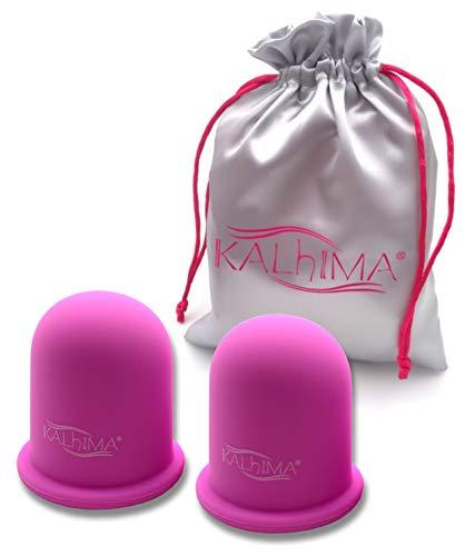 KALHIMA CupShape! (Set 2 Pezzi) - Coppette Anticellulite in Materiale Extra-Grip per Massaggio Rassodante e Tonificante Naturale