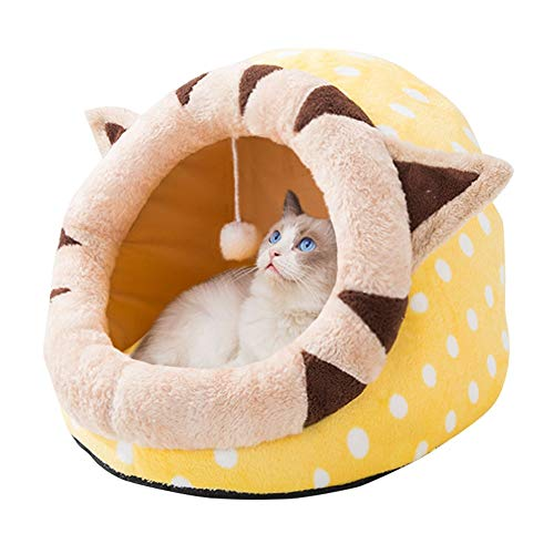 JIKLLSJID Cuccia per Gatti Letto di Inverno Dell'animale Domestico Smontabile E Lavabile Piccolo Cane Pet Dog Cat Housepet Batuffolo di Cotone Pad Small Dog Kennel Universale (Color : A, Size : M)