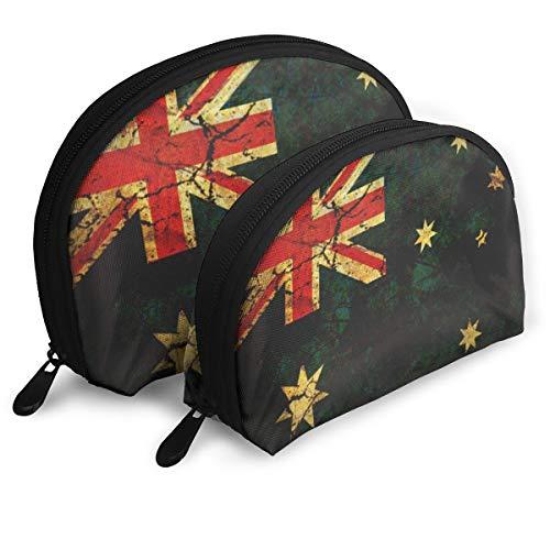 Shellfish Storage Bag Vintage Australia Flag Cluth Bag Fashion Storage Bag Toiletry Makeup Bag