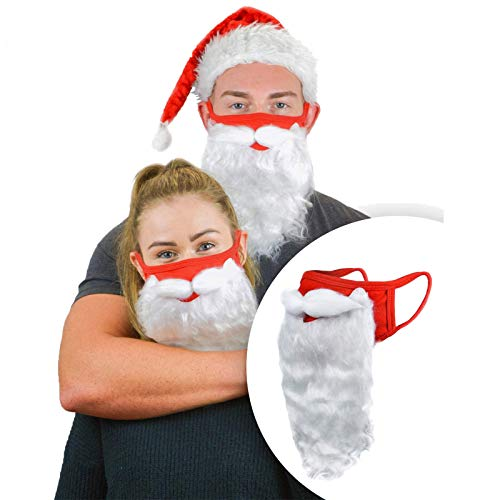 757 Maschere Natalizie Simpatico Pupazzo di Neve Albero di Natale Maschera Rave Maschera per Feste Natalizie Barba di Babbo Natale in Maschera (1 Pezzi)