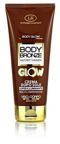 Body Bronze Glow, crema doposole super-illuminante viso e corpo, esalta l'abbronzatura e idrata (1x200ml) - LR Wonder Company