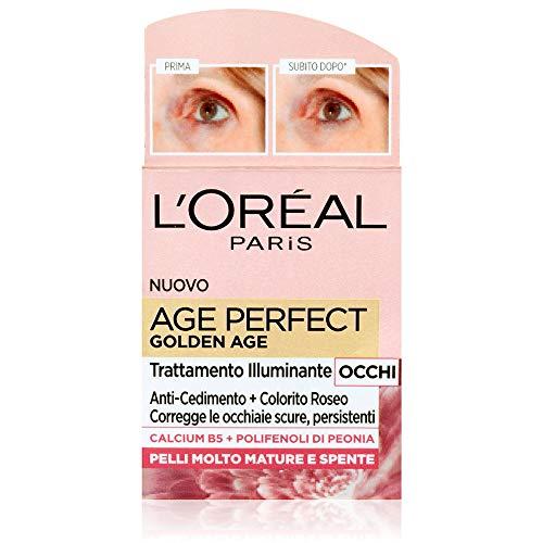 L'Oréal Paris Trattamenti Age Perfect Golden Age Trattamento Illuminante Contorno Occhi, Formula Arricchita con Calcium 5 e Polifenoli di Peonia - 15 ml