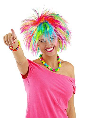 Parrucca con punte arcobaleno