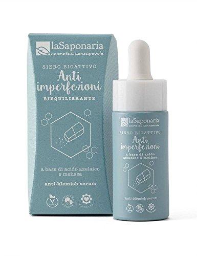 LA SAPONARIA - Siero Bioattivo Anti-Imperfezioni - Ecobio - Con azione riequilibrante - Effetto lenitivo - Regola la produzione di sebo - Vegan – 15ml