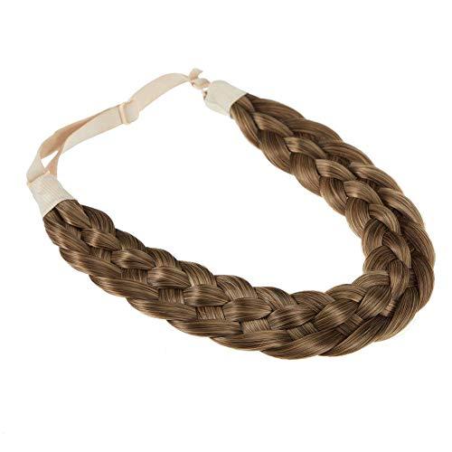 TOECWEGR - Fascia per capelli intrecciata, 5 fili intrecciati, stile classico e voluminoso elastico sintetico, accessorio di bellezza da donna (treccia a cinque fili B01)