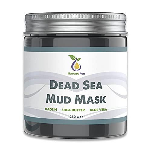 Maschera Viso di Fango del Mar Morto 250g, vegan - anti brufoli, comedoni e acne - Trattamento anti-età per la pelle secca e impura o grassa - Detox per il viso e corpo