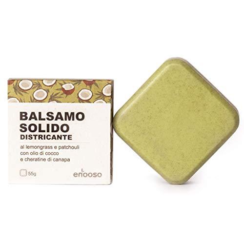 Balsamo Solido Bio Naturale al Cocco 55 g - Enooso - 100% Artigianale Biologico Vegano - Made in Italy
