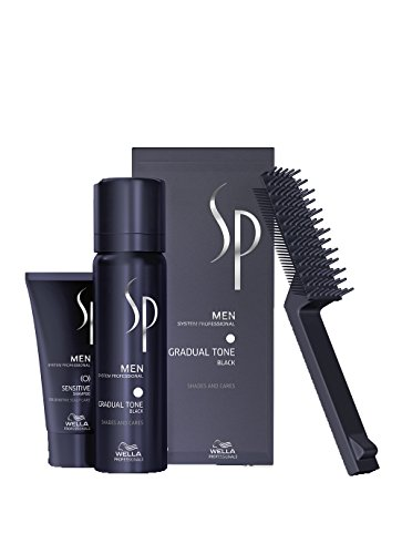 WELLA SP MEN Gradual Tone Black 60 ml, più shampoo 30 ml