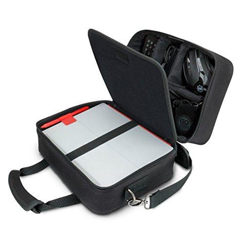 USA Gear Electronics Travel Organizer Tech Bag Case Custom Accessory Storage Compartimenti, tracolla regolabile e interno imbottito – Funziona con tablet, proiettori da viaggio e altro