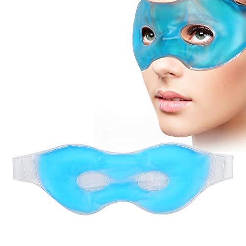 Mascherina per dormire mascherina notte maschera per il raffreddamento degli occhi, riutilizzabile, anti-affaticamento Impacco a freddo con uso alternato, rimozione della borsa per gli occhi