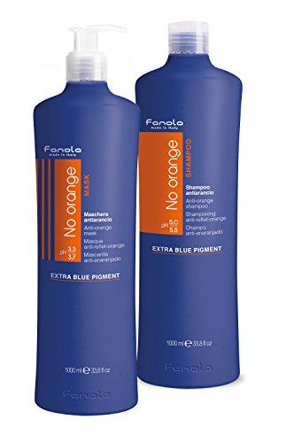 FANOLA No Orange Shampoo + Maschera Antiarancio - 2000 Ml