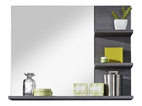 trendteam smart living Mobili Miami - Specchio a parete per bagno, Legno, Argento fumé (Finitura), 72 x 57 x 17 cm