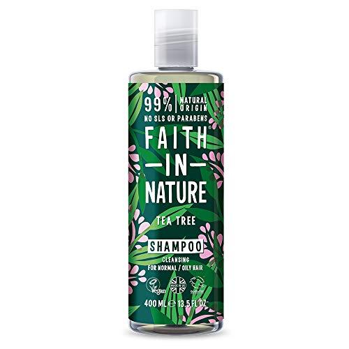 Faith In Nature Shampoo Naturale all'Albero del Tè, Vegano, senza Parabeni e senza SLS, non Testato su Animali, per Capelli da Normali a Grassi, 400 ml