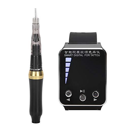 Penna per tatuaggi con orologio da polso, macchinetta per tatuaggi professionale, trucco semipermanente per sopracciglia semipermanente 110‑240V per(European regulations)