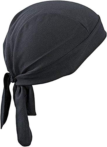 Bandana sportiva ad asciugatura rapida, protegge dai raggi UV, ideale per ciclismo, corsa, bicicletta, moto o per essere indossata sotto al casco, Black