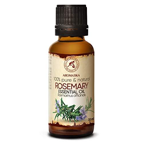 Olio Essenziale di Rosmarino - 30ml - Rosmarinus Officinalis - Profumi per Ambienti - Oli Essenziali per Aromaterapia - Aromi per Diffusori - Olio per Corpo - Integratori per Capelli
